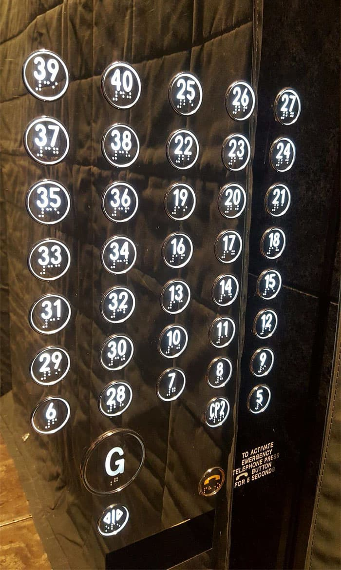 Epic Design Fails elevator buttons