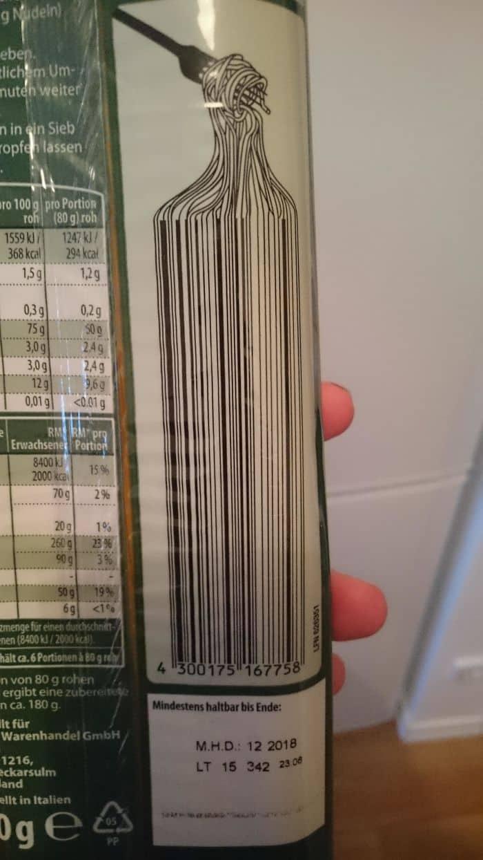 Genius Barcode Designs spaghetti