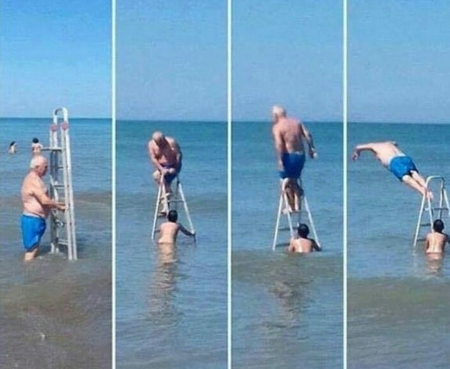 Genius Life Hacks ladder dive