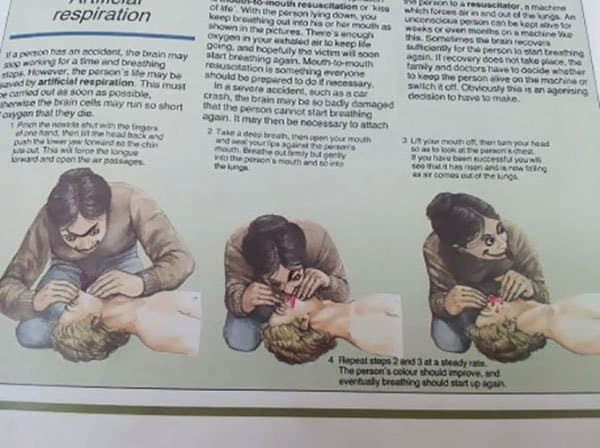 Genius Textbook Vandalism cpr eating face