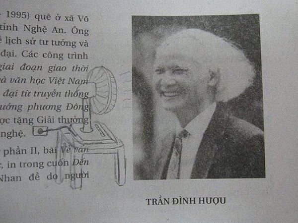 Genius Textbook Vandalism fan blowing hair