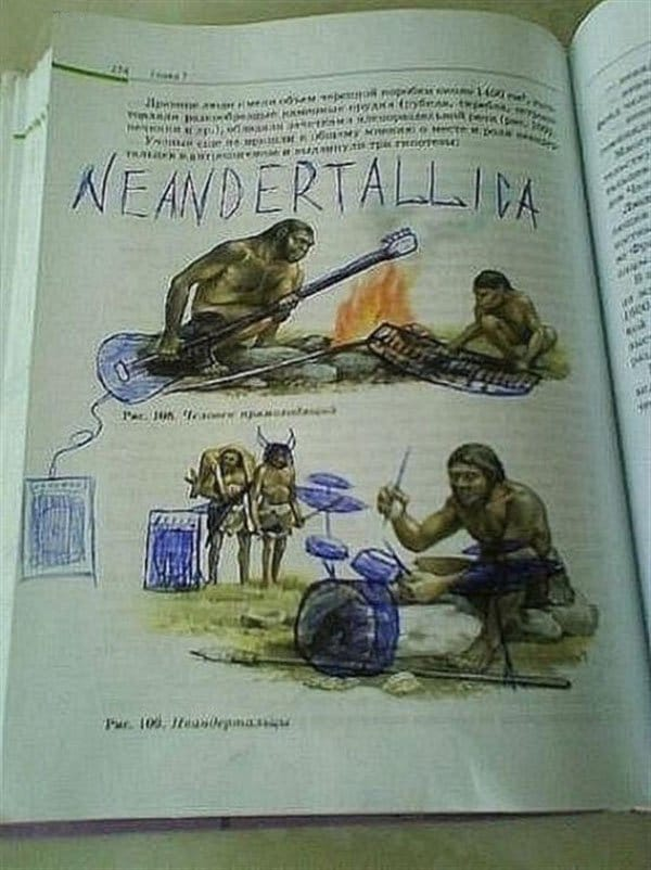 Genius Textbook Vandalism neandertaliica