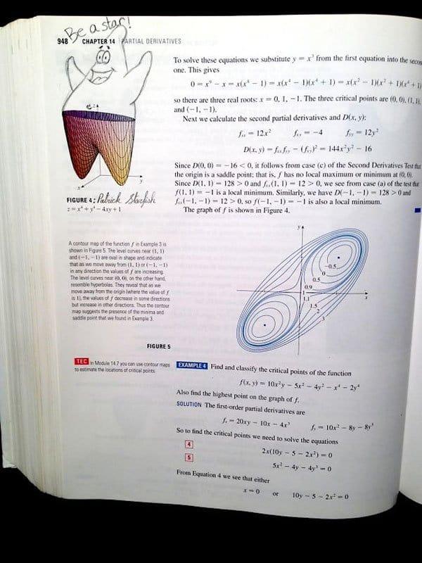 Genius Textbook Vandalism patrick