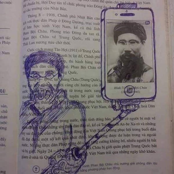 Genius Textbook Vandalism selfie stick