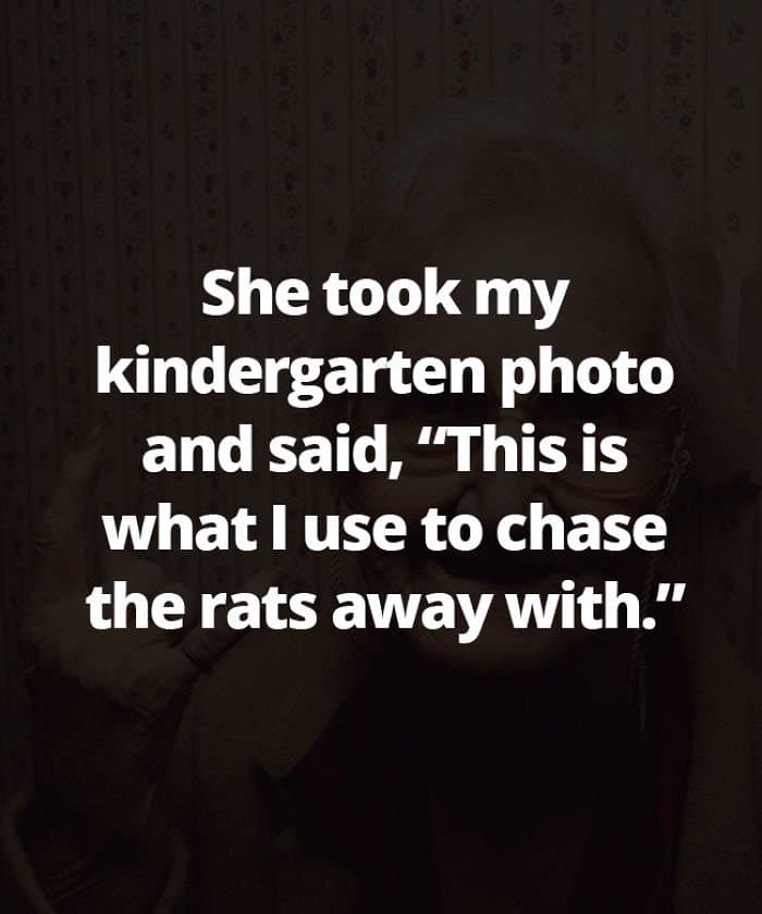 Honest Grandmas chase the rats away with