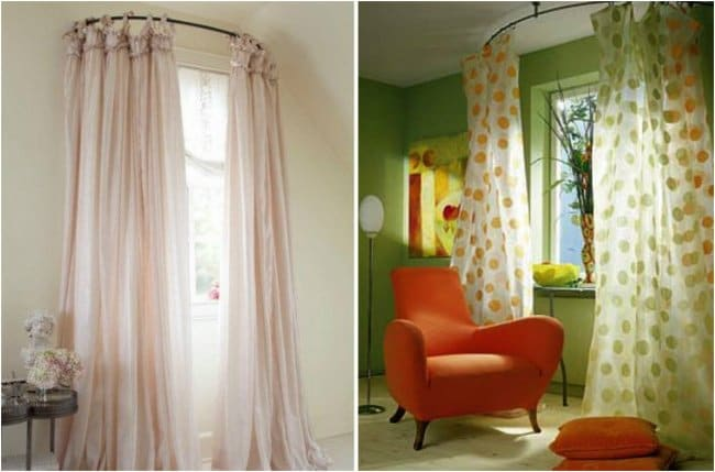 How Make Your Apartment Look Great curved curtains