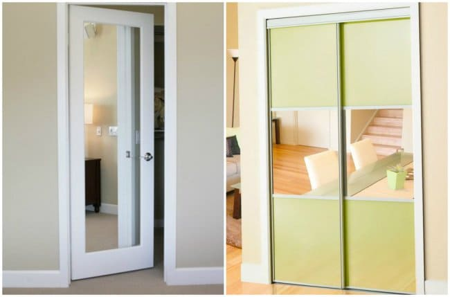 How Make Your Apartment Look Great mirrors on doors