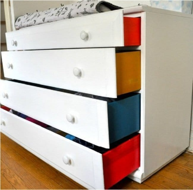 How Make Your Apartment Look Great paint drawer sides