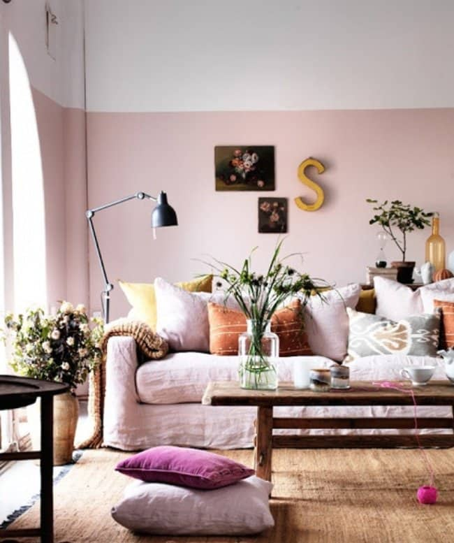 How Make Your Apartment Look Great paint walls two colors