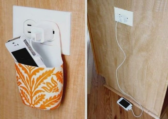 Ideas For Reusing Plastic Bottles phone charger holder
