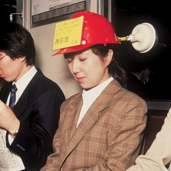 Ingeniously Weird Gadgets subway sleep hat