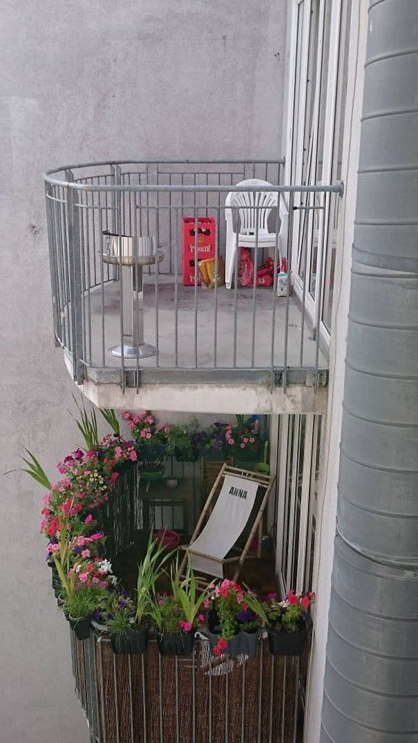 Interesting Neighbors girl balcony vs boy balcony