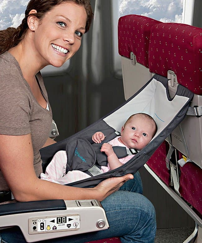 Inventions For Parents baby seat for airplanes