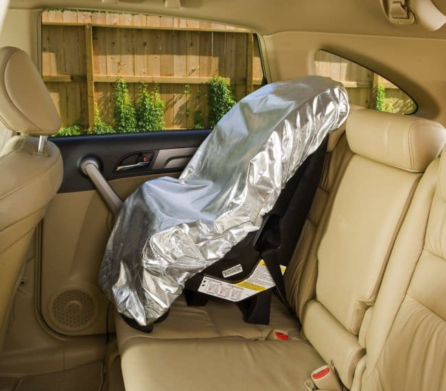 Inventions For Parents heat deflector for childs seat