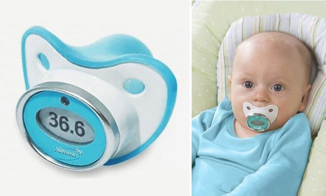 Inventions For Parents pacifier thermometer