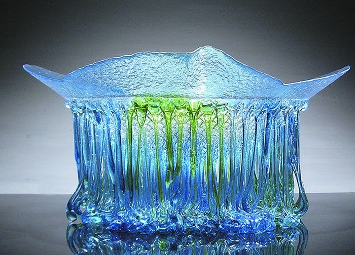 Jellyfish Glass Tables blue dash of green