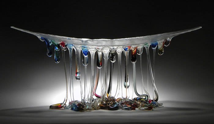 Jellyfish Glass Tables dark colors
