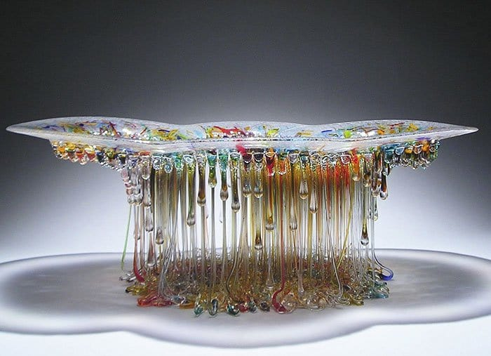 Jellyfish Glass Tables multicolor