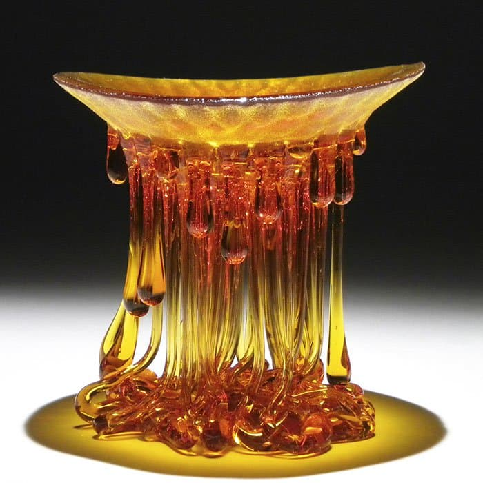 Jellyfish Glass Tables orange yellow