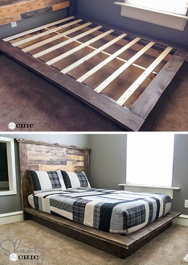 Low Cost Ways To Transform Your Home platform bed