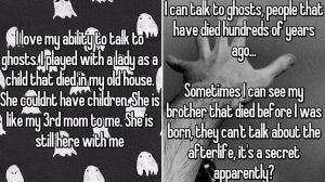 Occasions Where People Communicated With Ghosts