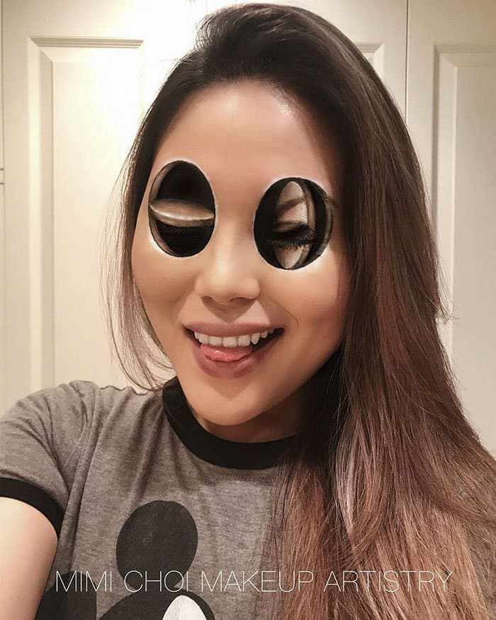 Optical Illusions With Makeup eye circles