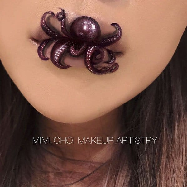 Optical Illusions With Makeup octopus lips