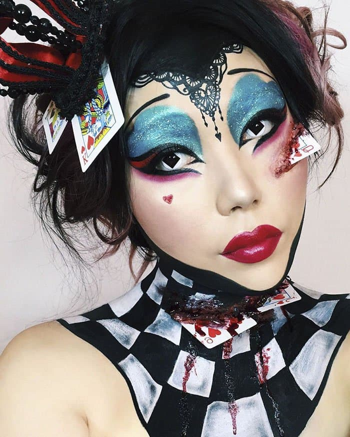 Optical Illusions With Makeup queen of hearts