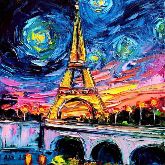 Painting Was Mistaken For A Van Gogh aja kusick eiffel tower