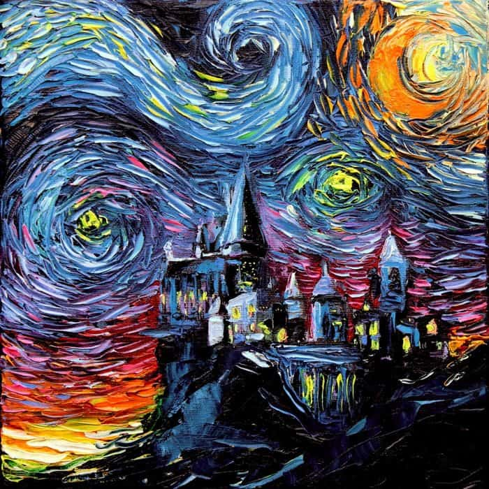 Painting Mistaken For A Van Gogh aja kusick harry potter