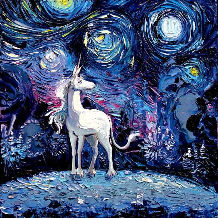 Painting Mistaken For A Van Gogh aja kusick last unicorn