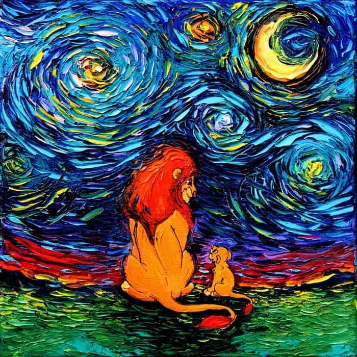 Painting Mistaken For A Van Gogh aja kusick lion king