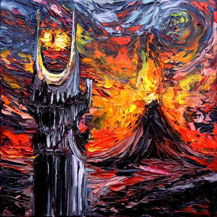 Painting Mistaken For A Van Gogh aja kusick lord of the rings