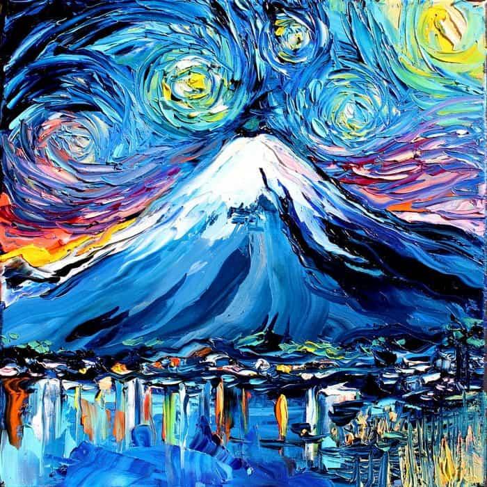 Painting Mistaken For A Van Gogh aja kusick mount fuji
