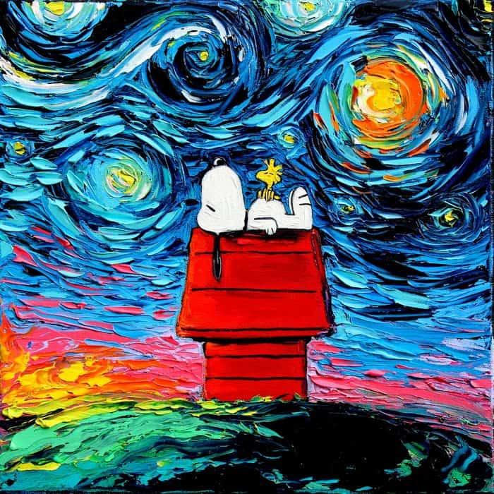 Painting Mistaken For A Van Gogh aja kusick snoopy