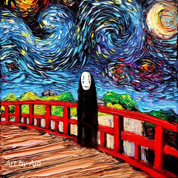 Painting Mistaken For A Van Gogh aja kusick spirited away no face
