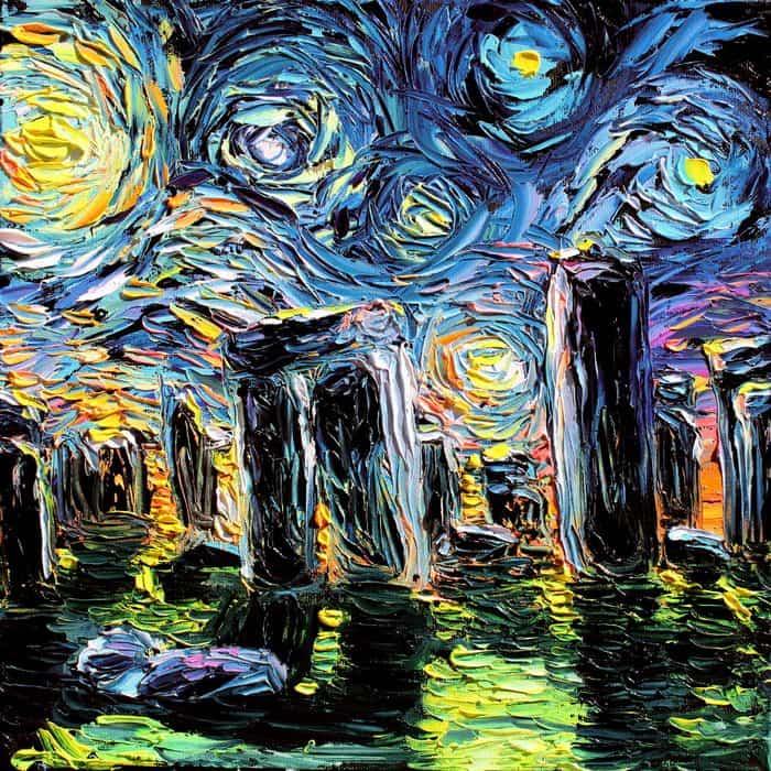 Painting Mistaken For A Van Gogh aja kusick stonehenge