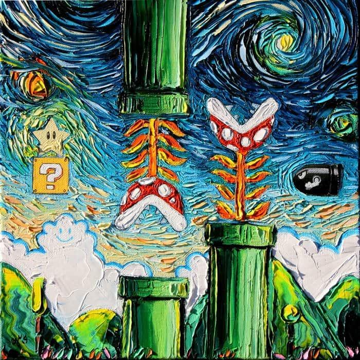Painting Mistaken For A Van Gogh aja kusick super mario