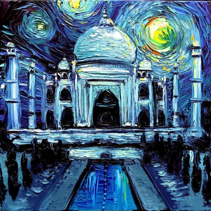 Painting Mistaken For A Van Gogh aja kusick taj mahal