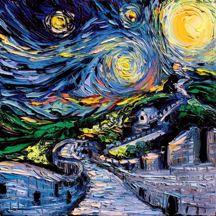 Painting Mistaken For A Van Gogh aja kusick the great wall