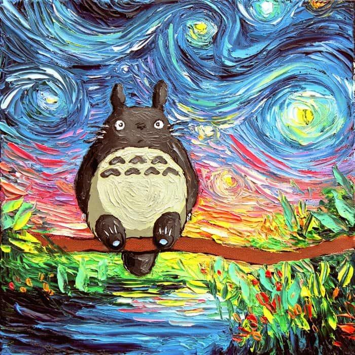 Painting Mistaken For A Van Gogh aja kusick totoro