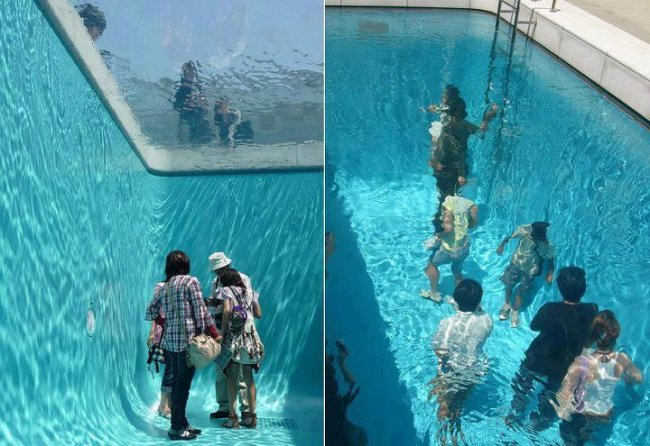 Photos That Will Make You Do A Double Take pool you can walk in