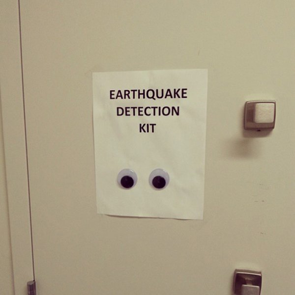 Pictures That Perfectly Sum Up The Office Life earthquake detection kit
