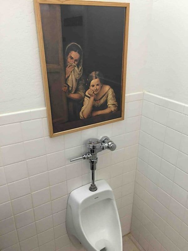 Pictures That Perfectly Sum Up The Office Life funny painting in bathroom