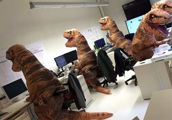 Pictures That Perfectly Sum Up The Office Life paleontology department halloween
