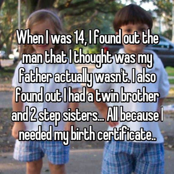 Secrets People Discovered On Their Birth Certificates dad wasnt dad