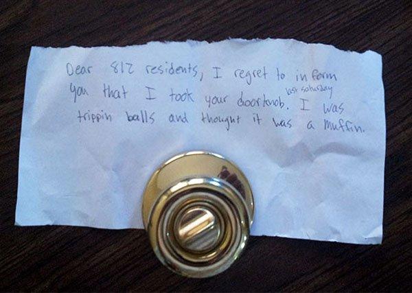 Stories Of People Finding Things stolen doorknob
