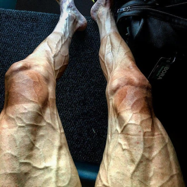 Strength Of The Human Spirit cyclists legs