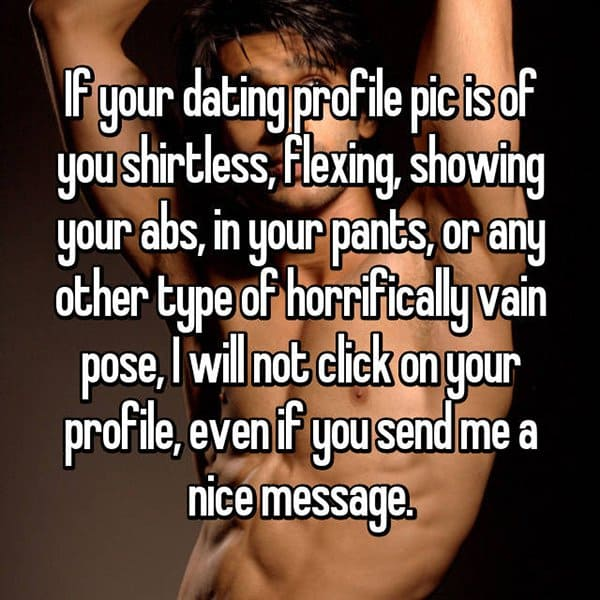 Things You Should Not Put On Dating Profiles shirtless