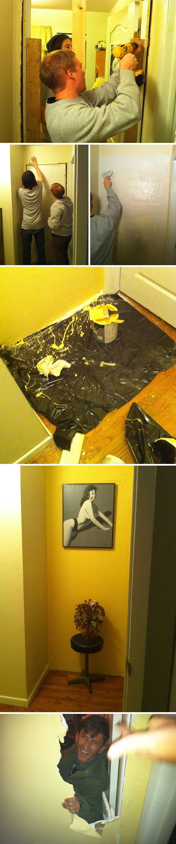 Times Living With Roommates Was The Worst walled off his room